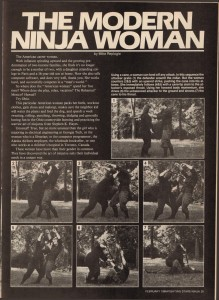 Fighting Stars Ninja February 1986 VOL. XIII, NO. 1 The Modern Ninja Woman by Mike Replogle-Pg35