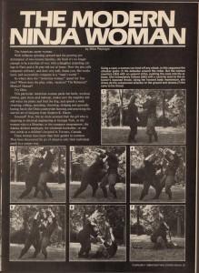 Fighting Stars Ninja February 1986 VOL. XIII, NO. 1 The Modern Ninja Woman by Mike Replogle-Pg35
